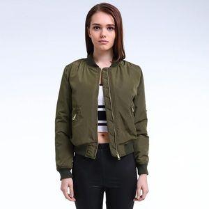 Zara Military Green Bomber